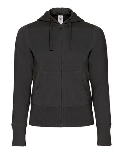 Hooded Full Zip Sweat / Women Black