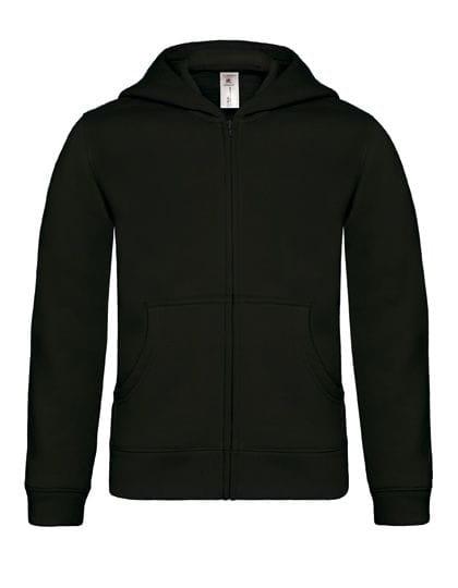 Hooded Full Zip Sweat / Kids Black