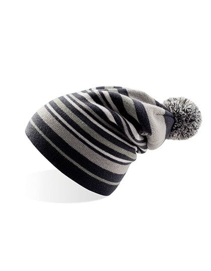 Podcast - Knitted Beanie Black / Grey