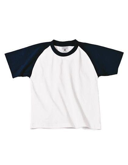 T-Shirt Base-Ball / Kids White / Navy
