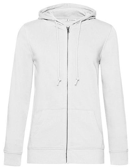Organic Zipped Hood Jacket /Women White