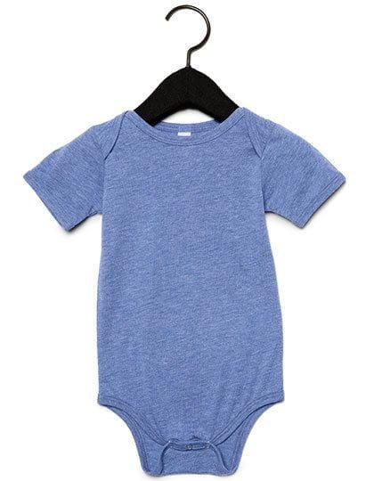 Baby Triblend Short Sleeve Onesie Blue Triblend (Heather)