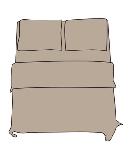 Flat Sheet - Double XL Chateau Grey