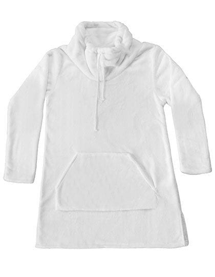 Coral Fleece Lounge Pullover White