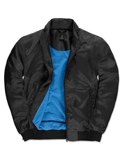 Jacket Trooper /Men Black / Cobalt Blue