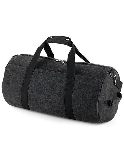 Vintage Canvas Barrel Bag Vintage Black