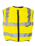Biker Safety Vest EN ISO 20471 Signal Yellow
