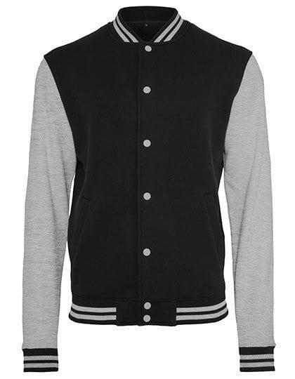 Sweat College Jacket Black / Heather Grey