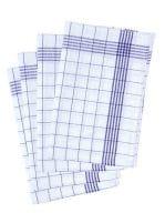 Geschirrtuch kariert (10-er Pack) Blue (ca. Pantone 7687C) / White