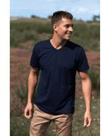 T-Shirt mit V-Ausschnitt aus Bio-Baumwolle - Neutral