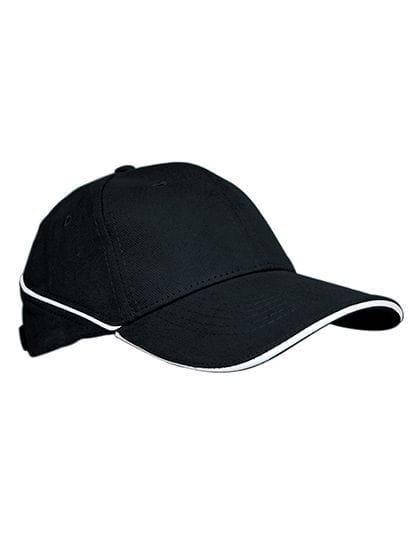 Cap White-Stripe Black