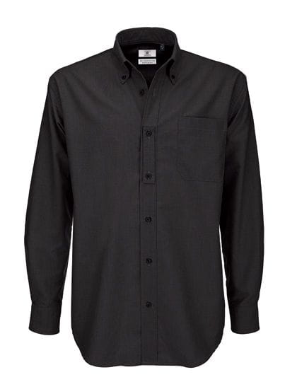 Shirt Oxford Long Sleeve /Men Black