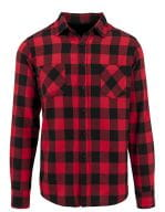Checked Flannel Shirt Black / Red