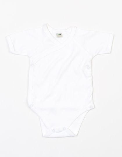 Baby Organic Kimono Bodysuit White