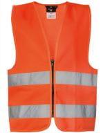 Safety Vest for Kids with Zipper EN1150 Signal Orange