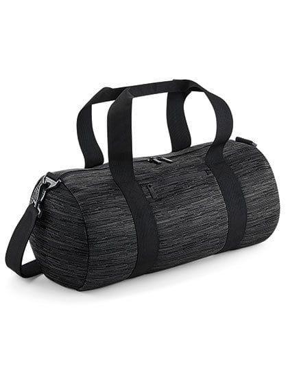 Duo Knit Barrel Bag Grey / Black