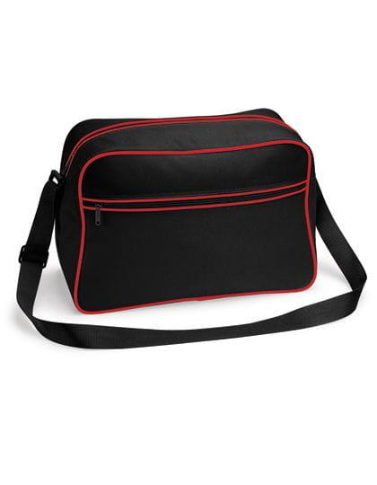 Retro Shoulder Bag Black / Classic Red