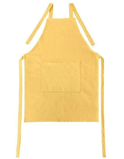 Apron with Pocket Canvas Brilliant Yellow (Yellow)