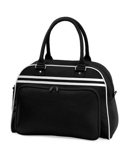 Retro Bowling Bag Black / White