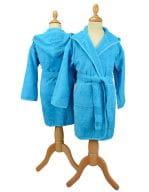 Boyzz & Girlzz® Hooded Bathrobe Aqua Blue / Aqua Blue