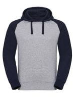 Authentic Hooded Baseball Sweat Light Oxford (Heather) / Indigo Melange