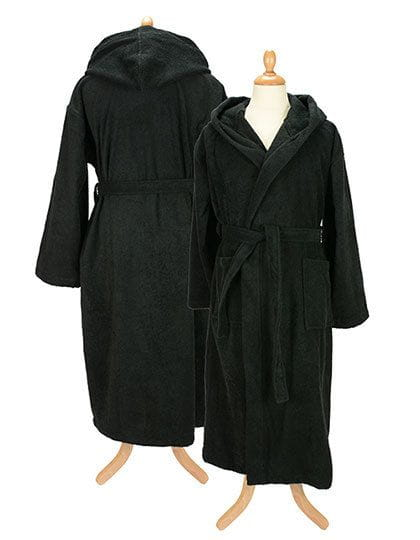 Bathrobe with Hood Black