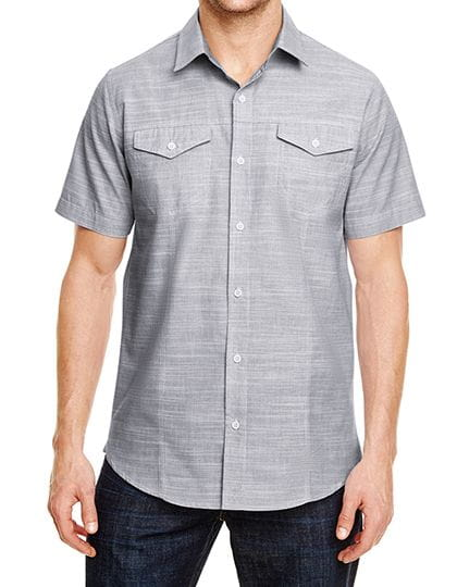 Woven Texture Shirt Black (White Heather)