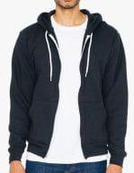 Unisex Flex Fleece Zip Hooded Sweatshirt Black