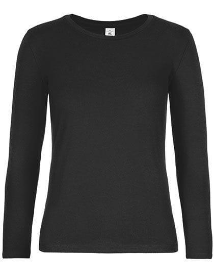 T-Shirt #E190 Long Sleeve / Women Black