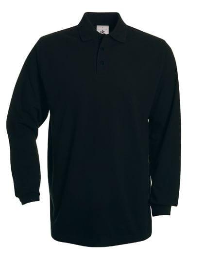 Polo Heavymill Longsleeve / Unisex Black
