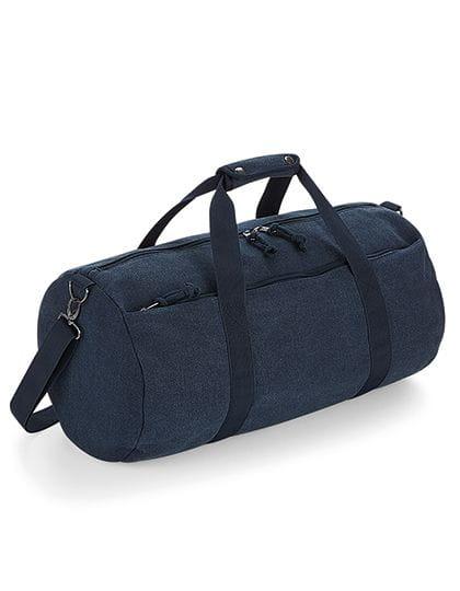 Vintage Canvas Barrel Bag