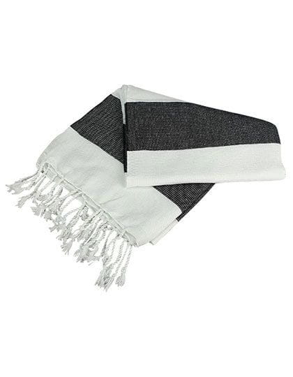 Hamamzz® Hamam Towel Antalya White / Black