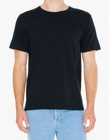 Unisex Fine Jersey T-Shirt Black