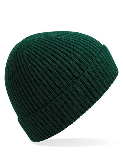 Engineered Knit Ribbed Beanie Bottle Green