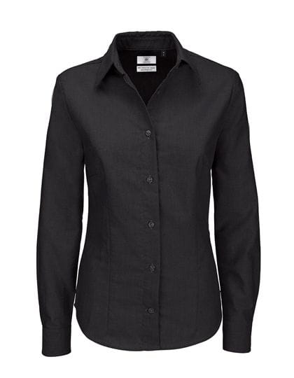 Oxford Shirt Long Sleeve / Women Black