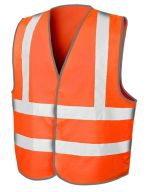 High Viz Motorway Vest Fluorescent Orange