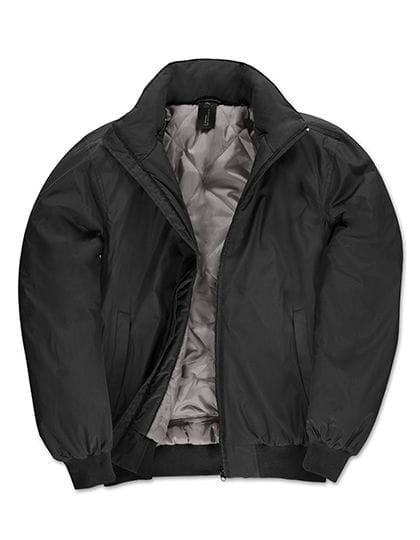 Jacket Crew Bomber /Men Black / Warm Grey