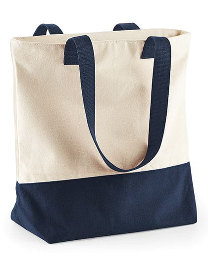 Westcove Canvas Shopper Natural / French Navy