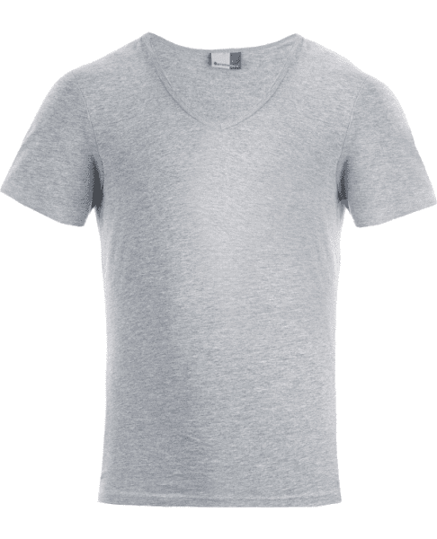 V-Ausschnitt T-Shirt (Slim Fit) - Promodoro