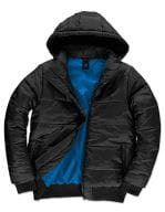 Jacket Superhood /Men Black / Cobalt Blue