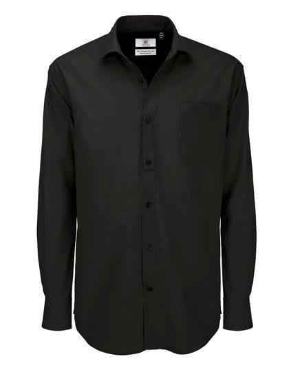Poplin Shirt Heritage Long Sleeve / Men Black