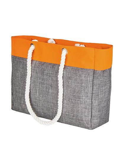 Tote Bag - San Diego Grey Melange / Neon Orange