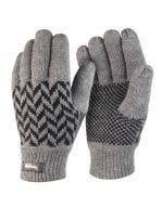 Pattern Thinsulate Glove Grey / Black