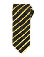 Sports Stripe Tie Black / Gold