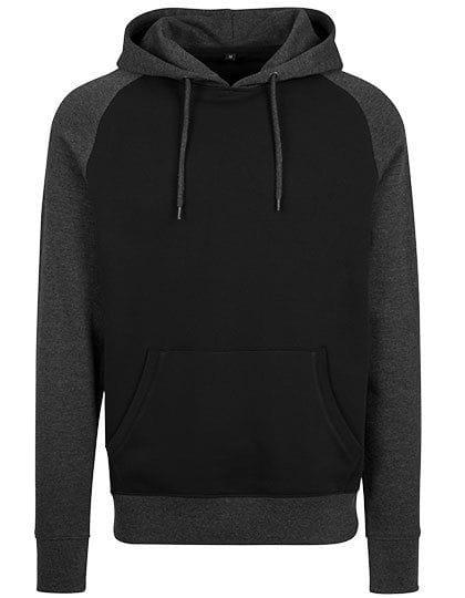 Raglan Hoody Black / Charcoal (Heather)