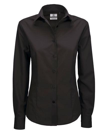Poplin Shirt Smart Long Sleeve / Women Black
