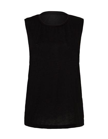 Women`s Flowy Scoop Muscle T-Shirt Black